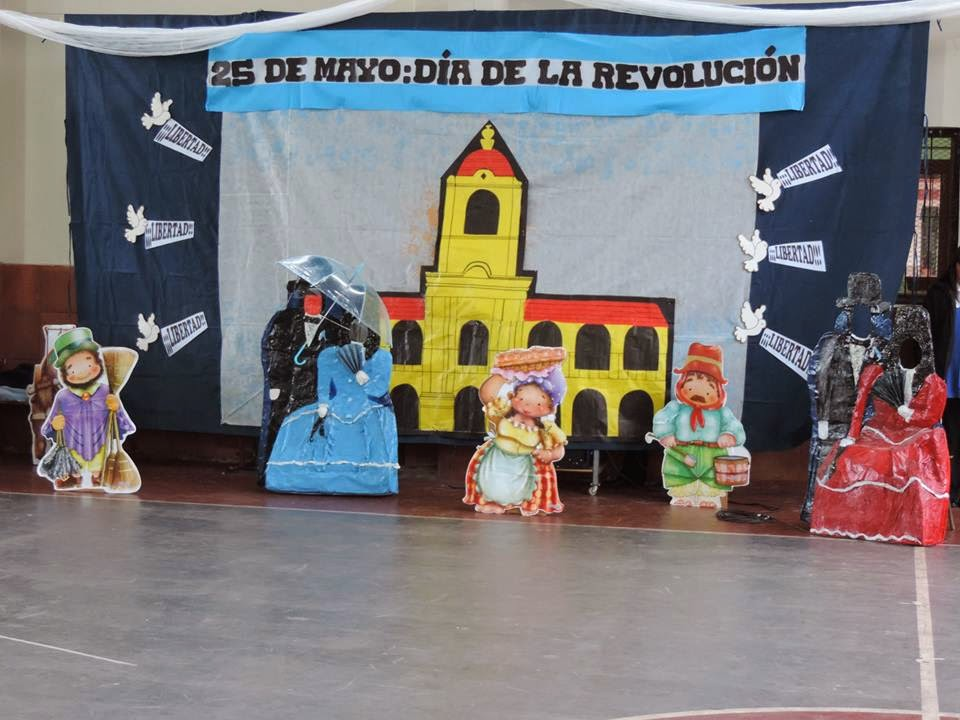 El acto central por el aniversario de la revoluci n de for Decoracion 9 de julio primaria